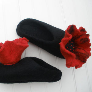 HWD Wool Slippers-Size Small